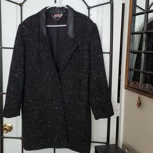 New York Girl wool/leather coat
